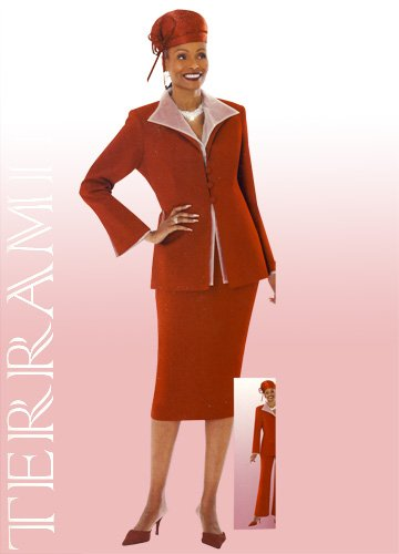 Woman's Size 26 Red Terramina Suit 6085