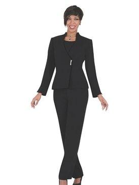 Woman Size 24 Black Ben Marc Pantsuit #11163