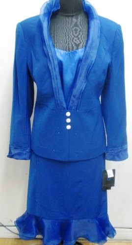 Royal Blue Woman's 3 Piece Suit