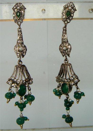 sz 4 cz Indian traditional Handmade twotone bangle bracelet jewelery