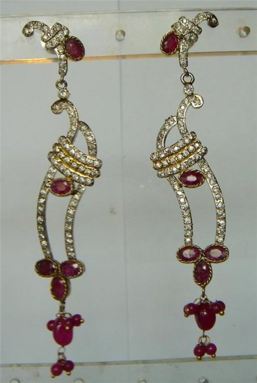 sz 3.5 cz traditional twotone bangle bracelet jewelery 5.3 cms inner dia