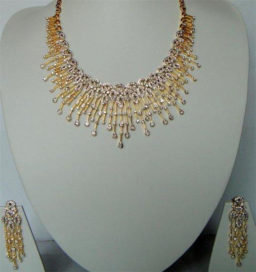 sz 5 cz Indian Handmade twotone bangle bracelet jewelery openable