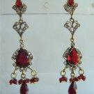 sz 5 cz solitaire ruby twotone bangle bracelet jewelery openable