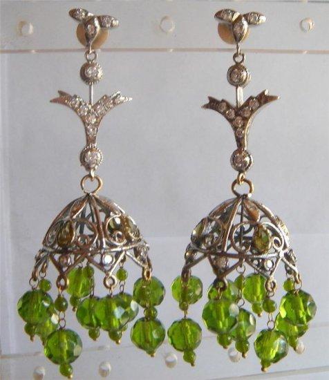 sz 5.5 cz traditional India Handmade twotone bangle bracelet jewelery