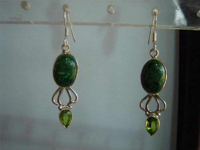rama green matching antique style cz dangler earing jewelery