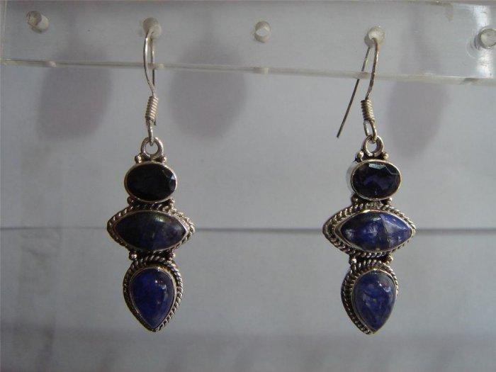 black matching antique style cz dangler earing jewelery