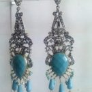 pastel green matching antique style cz dangler earing jewelery