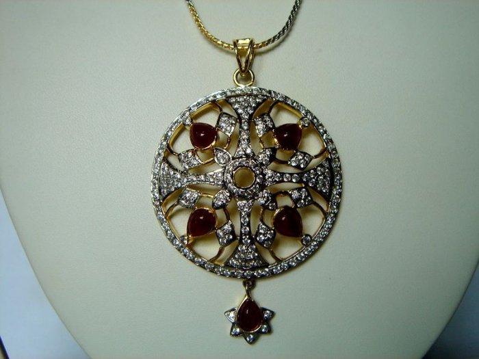 yellow matching antique style cz dangler earing jewelery