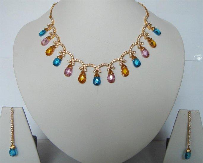 cz ruby emerald cz antique style chandelier earing jewelery