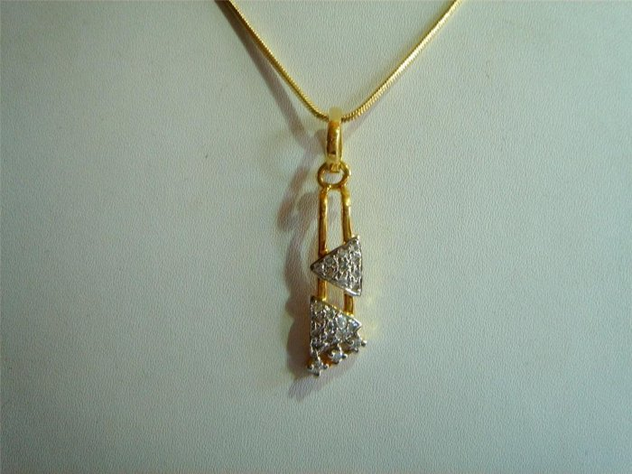 pink golden turquoise simulated diamond necklace earing