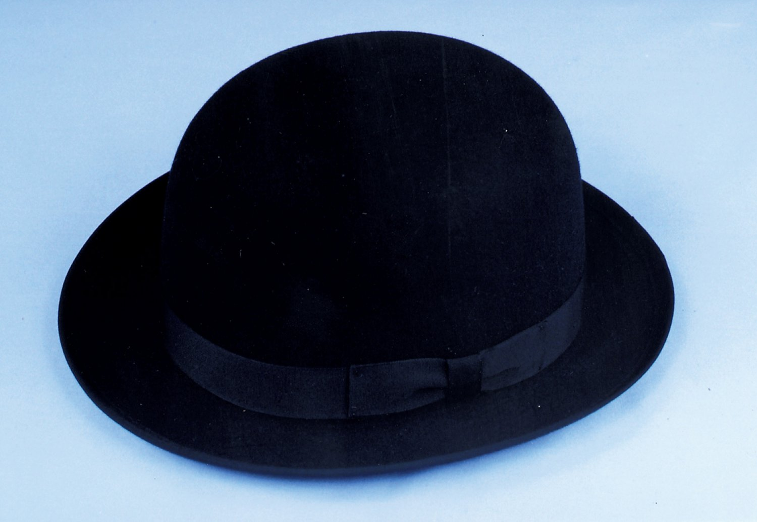 Billy the Kid Style Wool Felt Black Derby Bowler Hat - Size Small 17c8c3318c5
