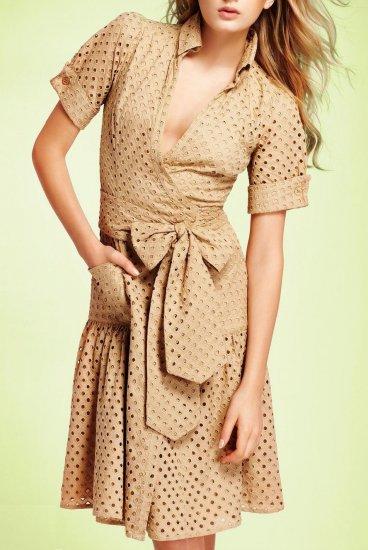 Bellette Wrap Dress in Khaki