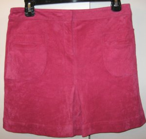 Lilly Pulitzer pink pig suede skirt Size 10 P