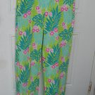 Lilly Pulitzer  pants green flowers size 8