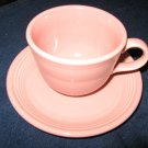 FIESTA WARE pink cup and saucer set