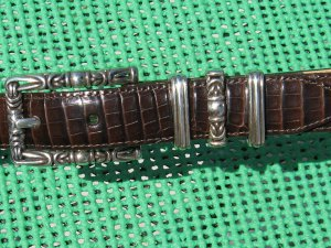Brighton  brown leather belt M
