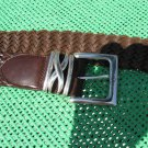 Brighton woven brown leather belt M