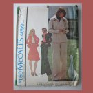 McCall's Vintage Sewing Pattern, #4699, Size 8, 1975,Shirt-Jacket,Skirt & Pants
