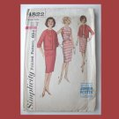 Simplicity Vintage Sewing Pattern, #4822, Size 7JP, 1-pc Dress, Jacket