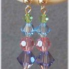 Springtime in Crystal - Swarovski Crystal Earrings in Pastels