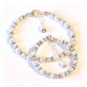 Matching Mother & Baby Freshwater Pearl Bracelets