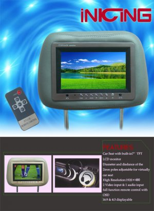 Car Headrest LCD Monitor  CM01-01
