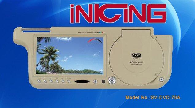 Sun-visor DVD Monitor  SV-DVD-70A