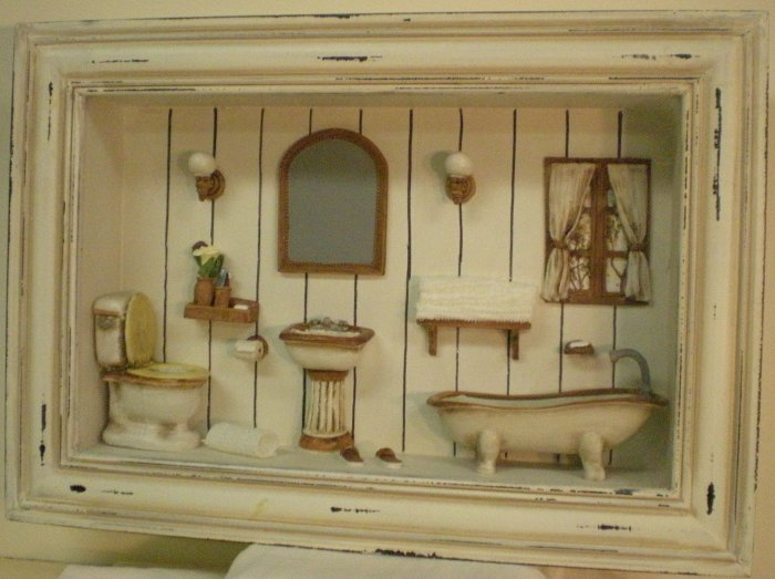 Victorian Bathroom Shadow Box