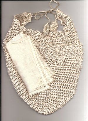 Victorian Lame' Hand Crocheted Reticule