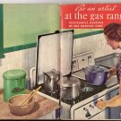 1936 Be an Artist at the Gas Range Recipe Booklet