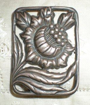 Danecraft Sterling Silver Floral Brooch