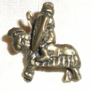 WW II Era Brass-tone Knight Pin