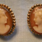 wRe Richards Co. 1940s Hard Shell Cameo Earrings