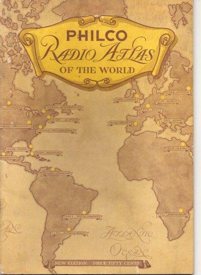 1935 Philco Radio Atlas of the World