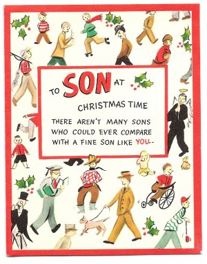 1940s Hallmark Pop-out - Son Christmas Greeting