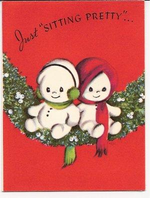 1940s  Christmas Greeting -Grouping of 4