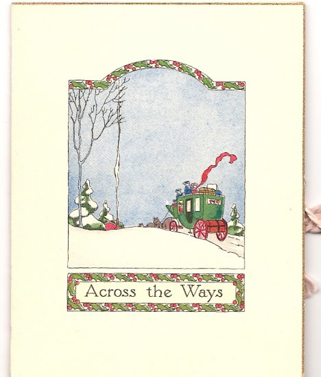 1920s - 1930s Tiny  Christmas Greeting -Grouping of 4