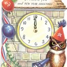 1940s New Year Greeting and Thank You Card