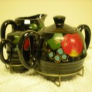 Vintage Black Creamer Sugar Set