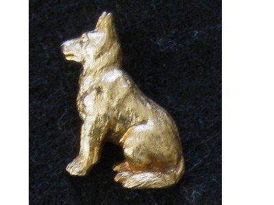 Gold tone Dog Pin, German Shepherd, Hat or Lapel Tac