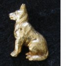 Gold tone Dog Pin, German Shepherd, Hat or Lapel Tac