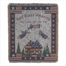Patriotic Tapestry Throw ~ Brand New in Box
