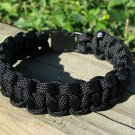 9 Inch Black Paracord Bracelet