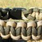 9 Inch Desert Tan & Olive Drab Paracord Bracelet