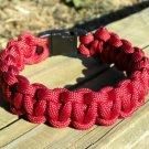 8 Inch Burgundy Paracord Bracelet