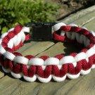 9 Inch Burgundy & White Paracord Bracelet