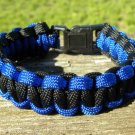 7 Inch Black & Blue Paracord Bracelet
