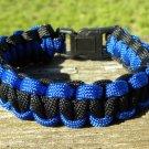 7 Inch Black & Blue Paracord Bracelet