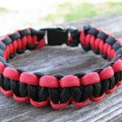 7 Inch Black & Red Paracord Bracelet