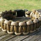 9 Inch Desert Tan & Coyote Brown Paracord Bracelet